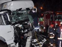 TEM'de iki saat arayla 2 TIR kazası