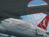 THY uçağı kuş sürüsüne daldı:Gövdede hasar var