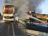 Yine 10 numara yağ şüphesi, yine otobüs yangını