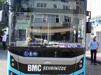 BMC yeni otobüs modelini Hopa'da tanıttı