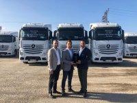 Mercedes'ten Hicri Ercili'ye 25 Actros cekici teslimatı