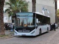 Çeşme'de belediye otobüslerine binmek bedava