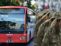İzmir'de askere toplu taşıma ücretsiz