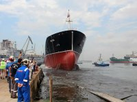 Akbaşoğlu'nun M/T ALI KA tankeri denize indirildi