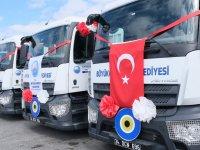 Büyükçekmece Belediyesi, Mercedes kamyonlarını törenle teslim aldı
