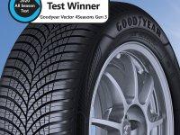 Tyre Reviews dört mevsim lastik testinin birincisi Goodyear