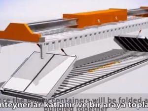 Katlanabilir konteynerler lojistiği kolaylaştıracak